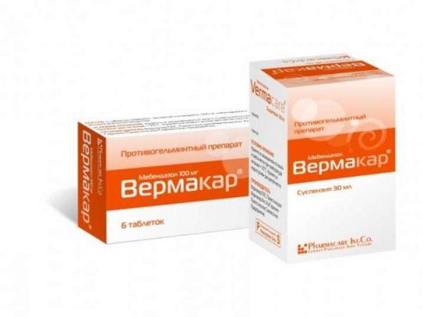 Инструкция по применению препарата Вермакар в таблетках и суспензии от глистов