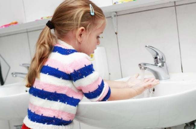острицы мыть руки