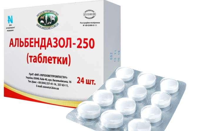 таблетки альбенадзол