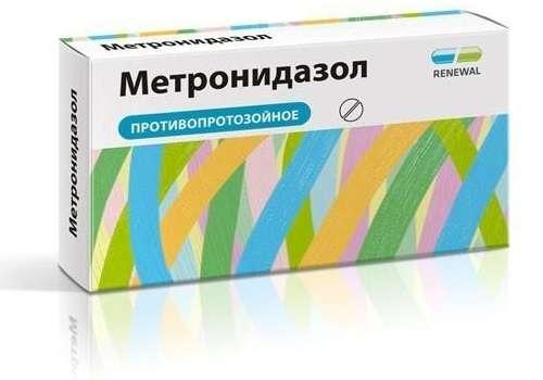 внешний вид препарата Метронидазола